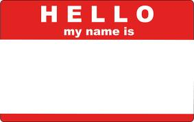 Hello My Name Is Tag