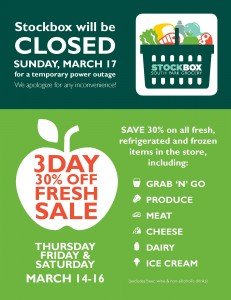 Power Outage Sale Flyer