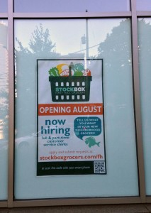 Stockbox First Hill Opening August Window Poster